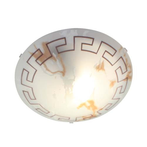 Eurolux Greek Twisted Round Ceiling Light