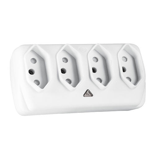 Crabtree Plug in Adaptor 4 x 16A/6A Slimline
