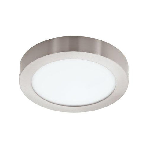 EGLO Connect Fueva-C Round LED Ceiling Light 300mm Satin Nickel