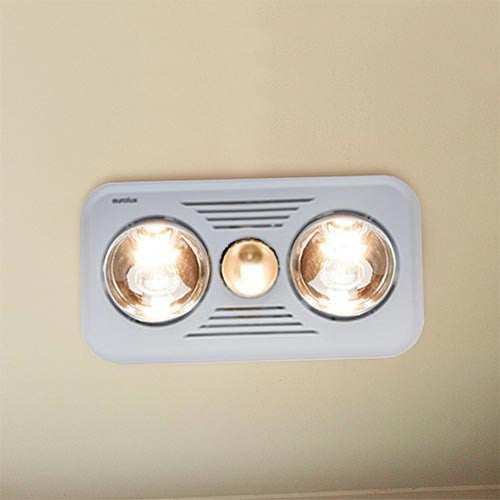 Eurolux 2 Light Ceiling Mount Bathroom Heater Livecopper