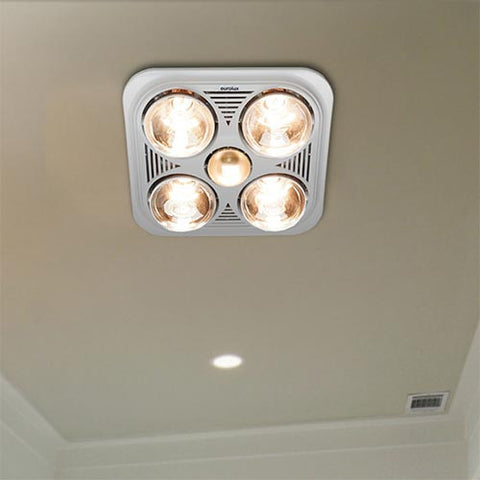 Eurolux Ceiling Bathroom Heater Light x4 C86W