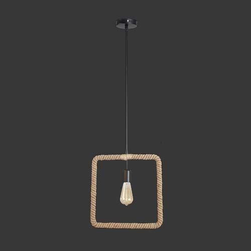 K. Light Square Rope Pendant