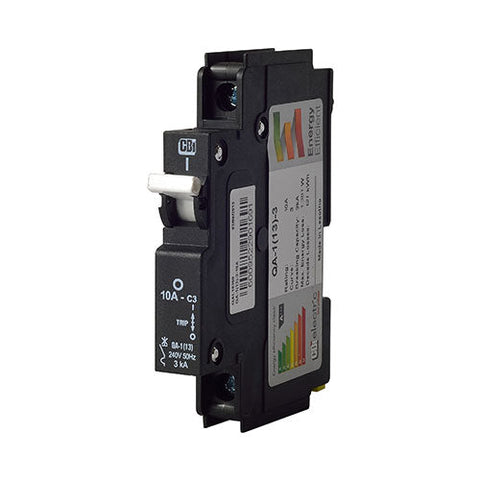 CBi Mini Rail Circuit Breaker 1 Pole 3kA - QA-1(13)