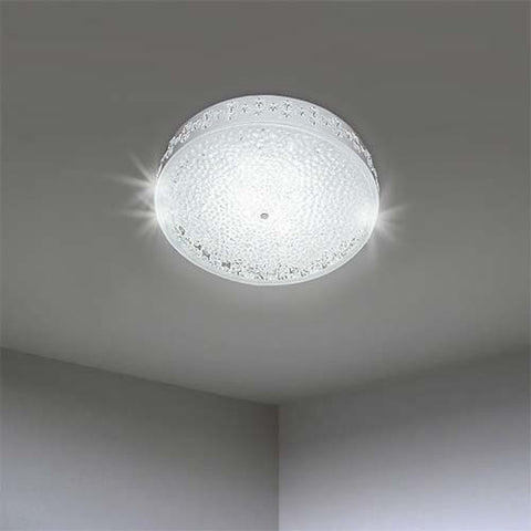Bright Star LED Ceiling Fitting with Glass & Crystals CF118/24