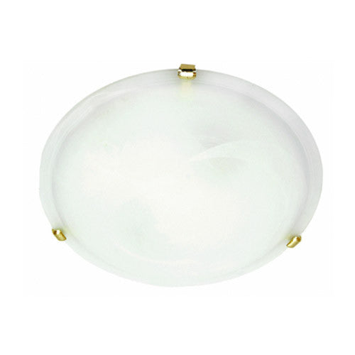 Bright Star Metal Base with Alabaster Glass and Gold Clips 400mm