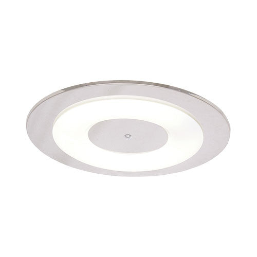 Bright Star Polished Chrome Ceiling Light with White Acrylic Cover