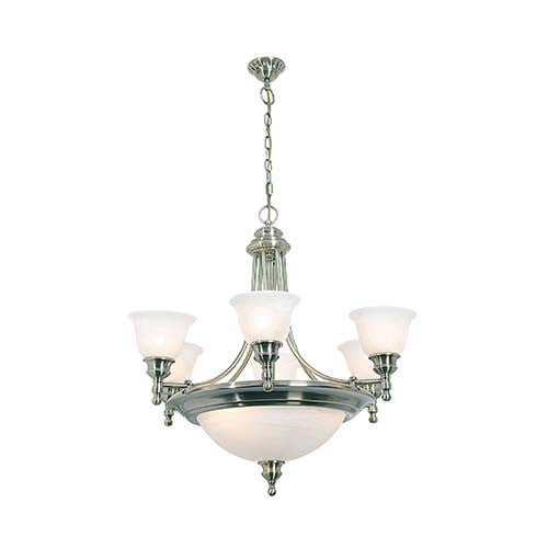 Eurolux 9 Light Up Facing Chandelier