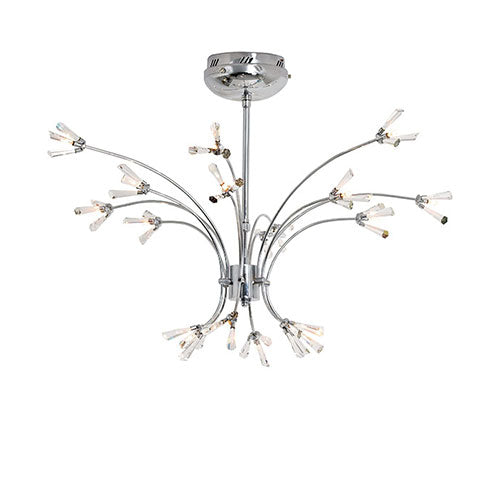 Eurolux Coral Chandelier 18 Light Egyptian Crystal