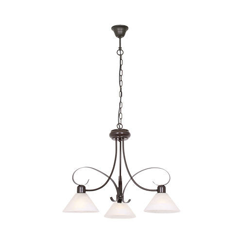 Metal Chandelier With Alabaster Glass 2