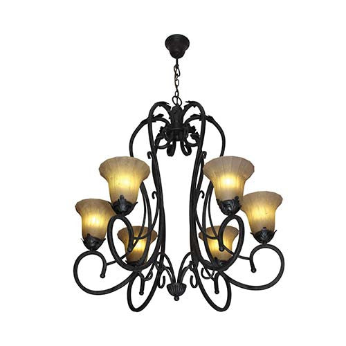 Eurolux Arch Of Triumph 6 Light Up Facing Chandelier