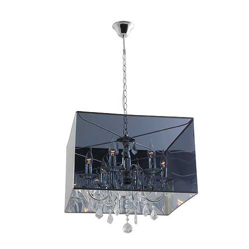 Eurolux 6 Light In And Out Crystal Chrome Chandelier
