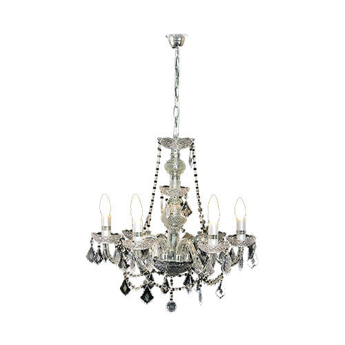 6 Light Up Acrylic Crystal Chandelier