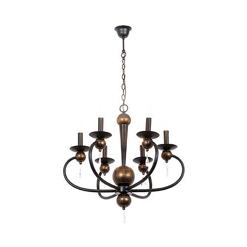 Bright Star Retro Modern Metal Chandelier