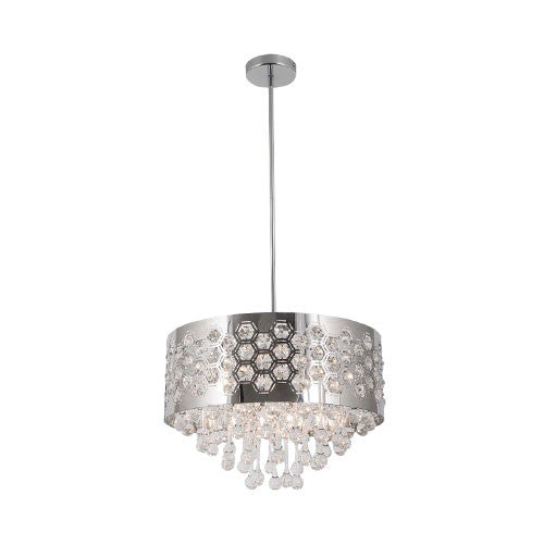 Polished Chrome Chandelier With K9 Crystals