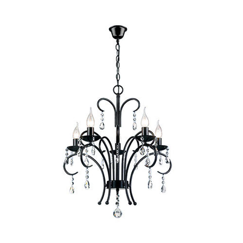 Bright Star Metal Chandelier with Crystals