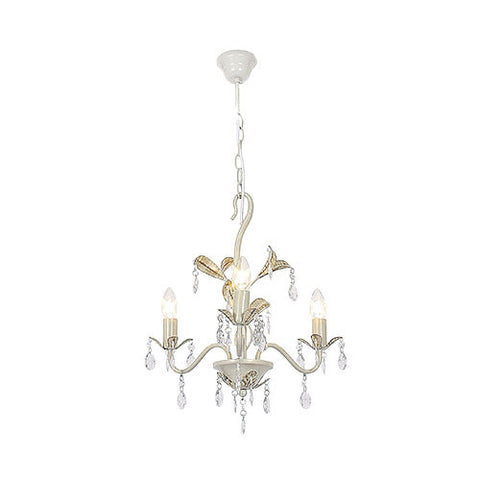 Bright Star Metal Chandelier with Clear Acrylic Crystals