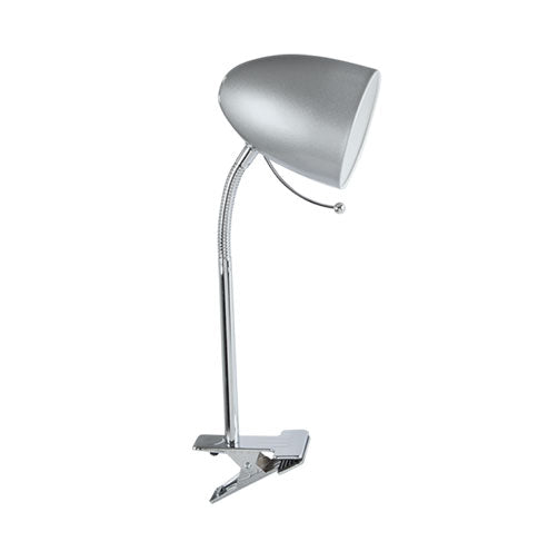 Polished Chrome Clip-On Desk Lamp 60W