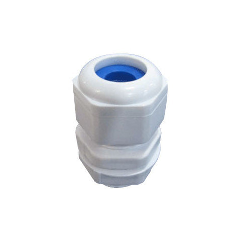 Matelec Cable Gland No 0 White With Blue Grommet