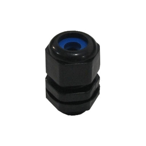 Matelec Cable Gland No 0 Flat Black With Blue Grommet