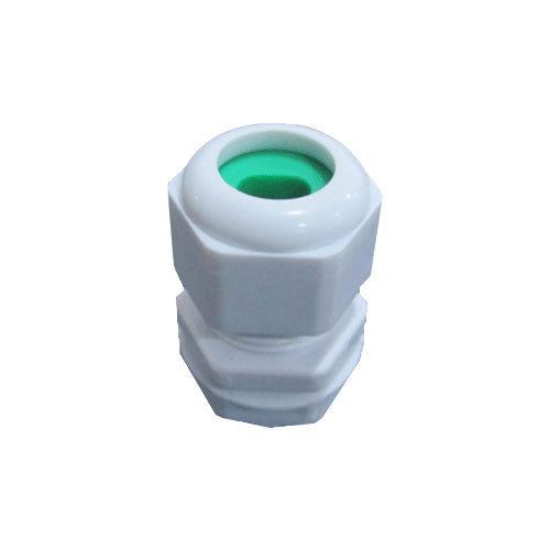 Matelec Cable Gland No 0 Flat White With Green Grommet