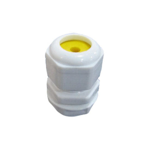 Matelec Cable Gland No 00 White With Yellow Grommet