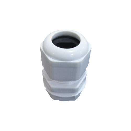 Matelec Cable Gland No 1 Flat White With Black Grommet