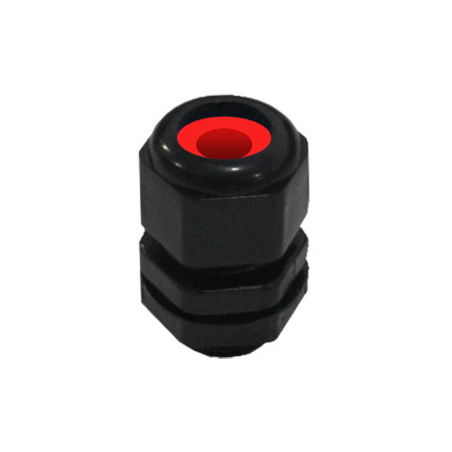MATelec Cable Gland No.1 Flat - Red Grommet