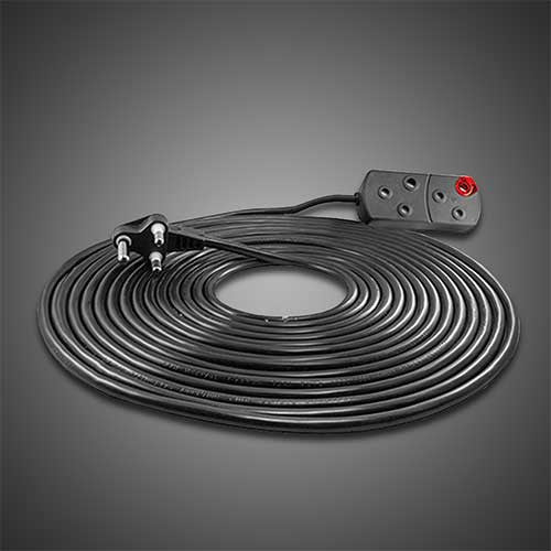 Crabtree Extension Cord 2 x 16A 20m Black