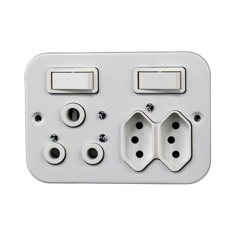 Crabtree Industrial 16A Switched Combination Socket