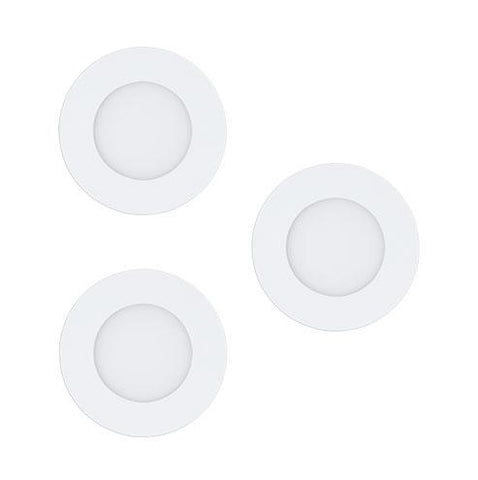 EGLO Connect Fueva-C Round LED Downlight Set 5mm Satin Nickel