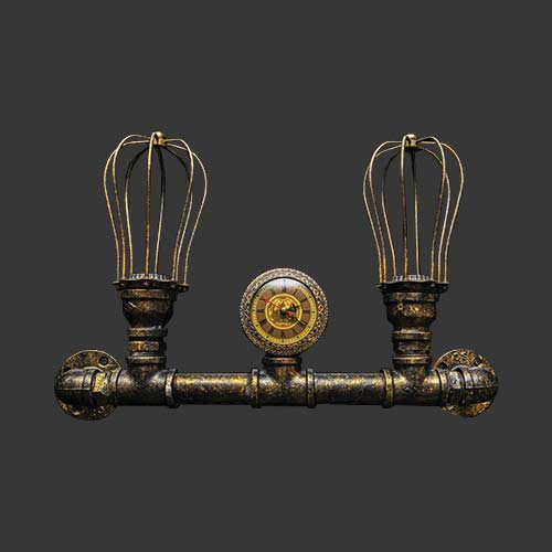 K Light Caged Pipe Wall Light