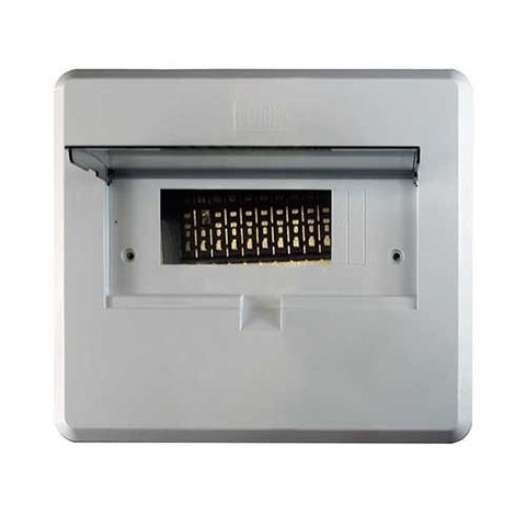 CBi Distribution Board 12 Way Steel with Steel Cover 3190796