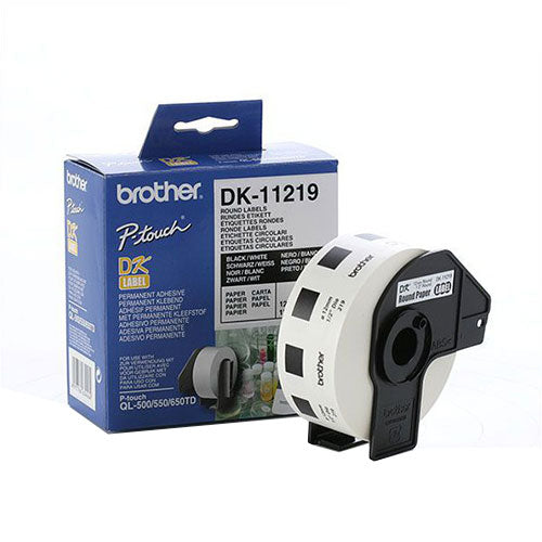 Brother DK11219 12mm Round Label