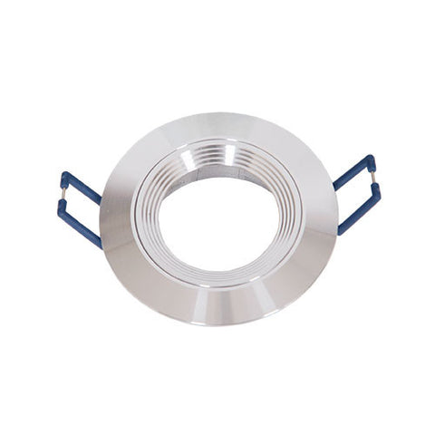 Bright Star Round Ringed Straight Downlight 78mm Aluminium