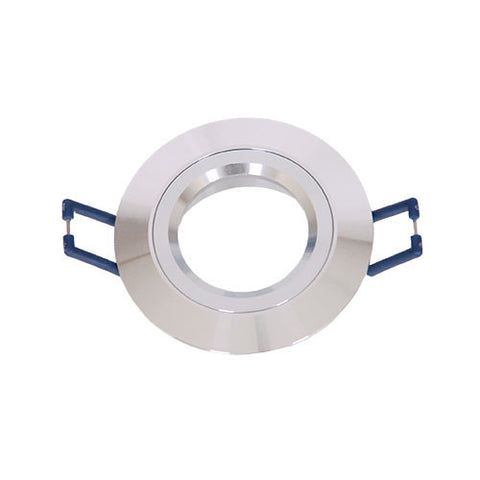 Bright Star Round Smooth Straight Downlight 78mm Aluminium