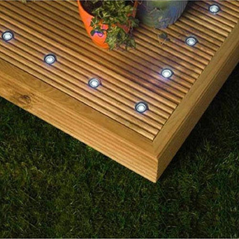 12V LED Outdoor Deck Lighting White DL070 STAINLESS