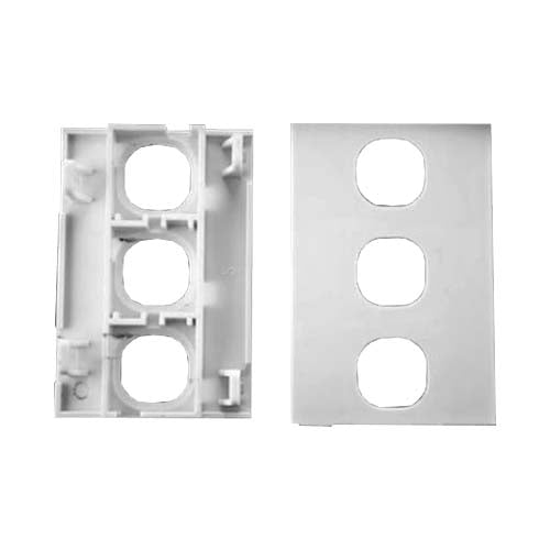 Decorduct Sokit 3 Module Blank Outlet White