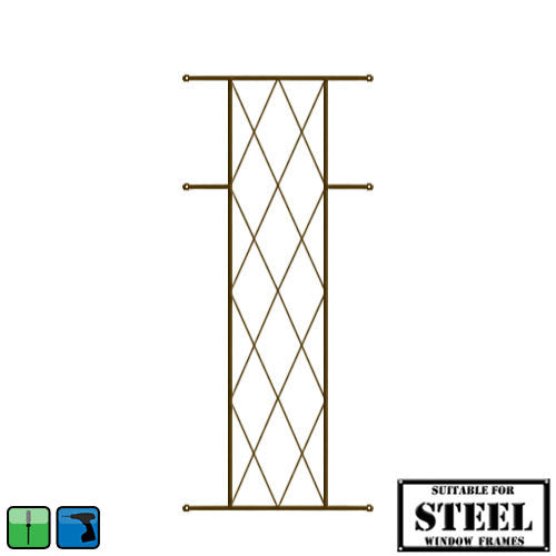Xpanda Diamond Burglar Guard - 460mm x 700mm Bronze | Burglar Guard