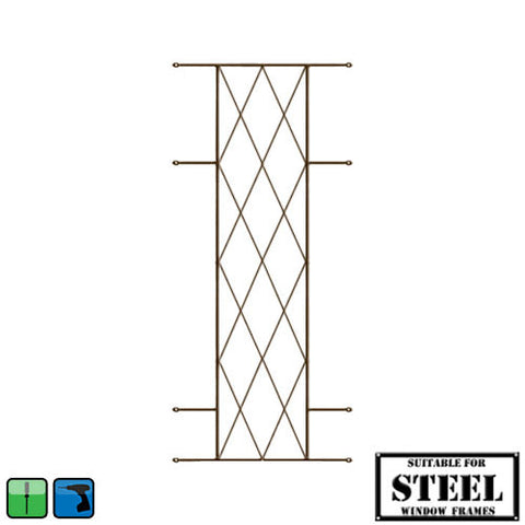 Xpanda Diamond Burglar Guard - 460mm x 1000mm Bronze | Burglar Guard