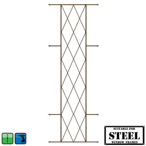 Xpanda Diamond Burglar Guard - 460mm x 1270mm Bronze | Burglar Guard