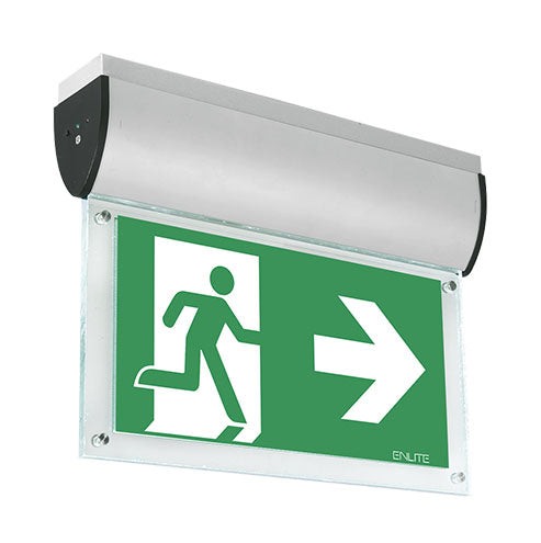 Aurora Ceiling Mount Emergency Exit Sign 7W