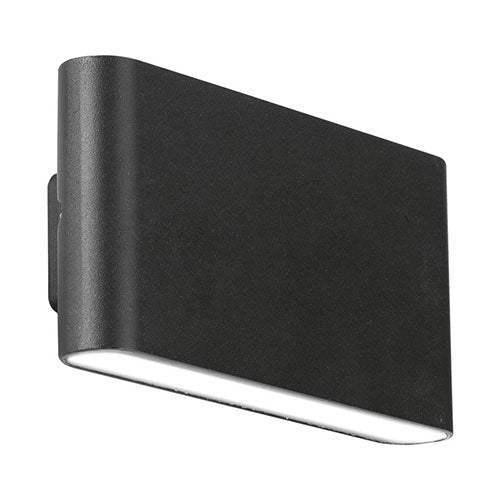 Enlite LED Fixed Up Down Wall Light 4000K 12W IP65 Black