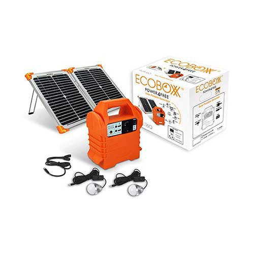 Solar Lights Cape Town: ACDC Ecoboxx Qube 160 Home Solar Kit For