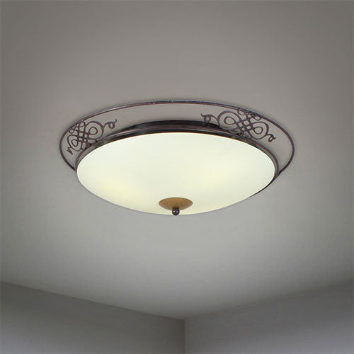 Eurolux Round Ceiling Light With Iron Frame