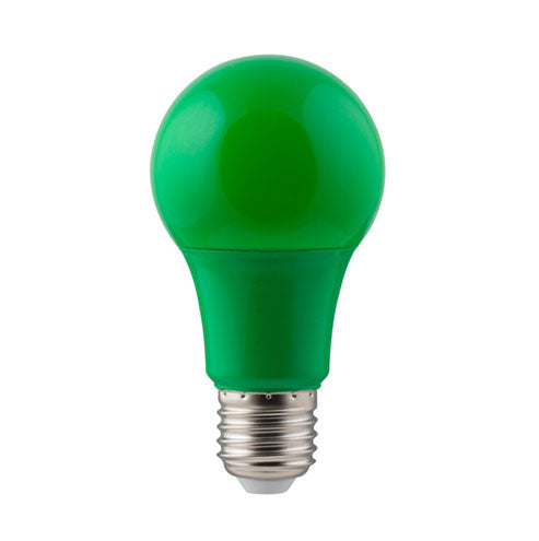 Eurolux LED Coloured Globe E27 7W 185lm Green