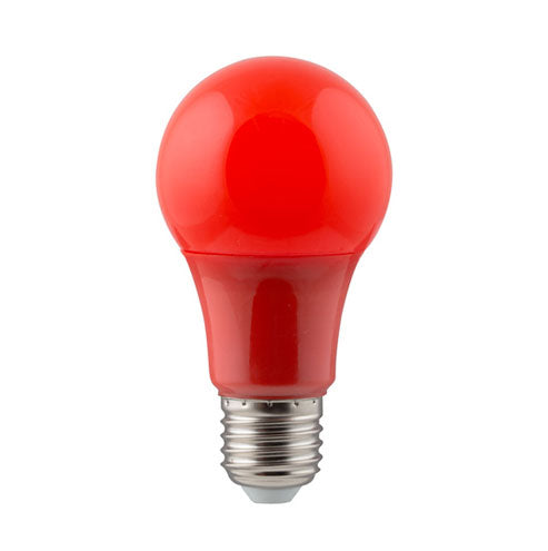 Eurolux LED Coloured Globe E27 7W 150lm Red