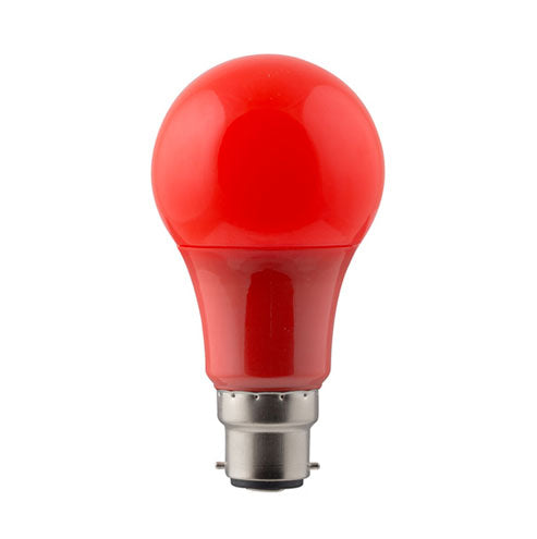Eurolux LED Coloured Globe B22 7W 150lm Red