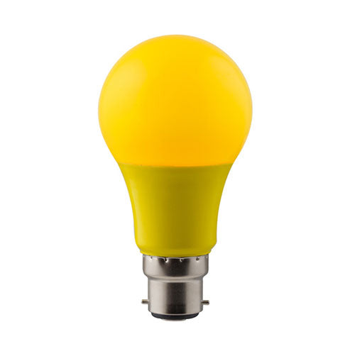 Eurolux LED Coloured Globe B22 7W 630lm Yellow