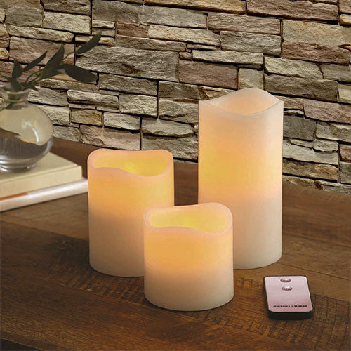 Eurolux LED Dripping Flameless Candle 3Pc 1