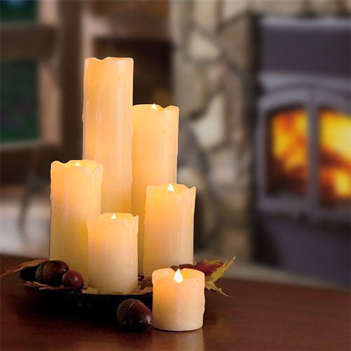 Eurolux LED Dripping Flameless Candle 3Pc